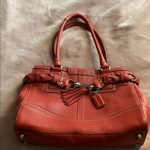 NWOT Pink/Coral Coach Leather Bag